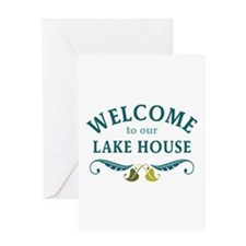 Welcome Lake House Greeting Cards