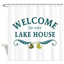 Welcome Lake House Shower Curtain