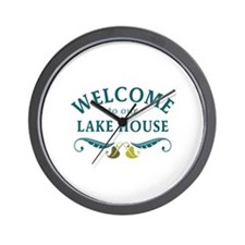 Welcome Lake House Wall Clock