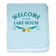 Welcome Lake House baby blanket