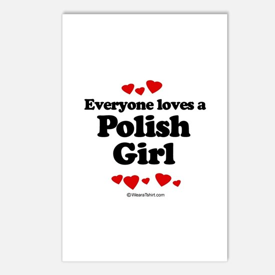 Everyone loves a Polish girl Postcards (Package of