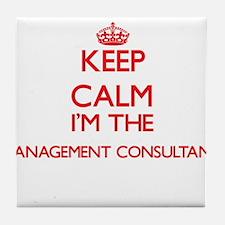 Keep calm I'm the Management Consulta Tile Coaster