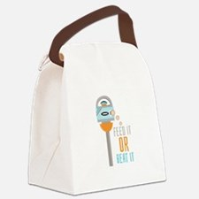 Feed It Or Beat It Canvas Lunch Bag