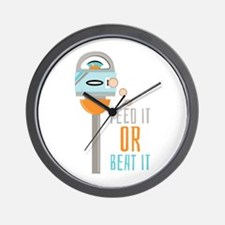 Feed It Or Beat It Wall Clock
