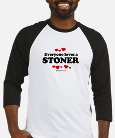 Everyone loves a stoner Baseball Jersey