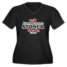 Everyone loves a stoner Women's Plus Size V-Neck D