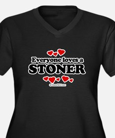 Everyone loves a stoner Women's Plus Size V-Neck D