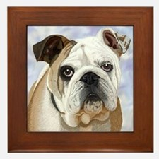 English Bulldog Framed Tile