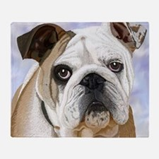 English Bulldog Throw Blanket