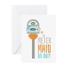 Maid On Duty Greeting Cards