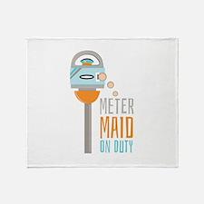 Maid On Duty Throw Blanket