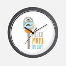 Maid On Duty Wall Clock