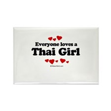 Everyone loves a Thai girl Rectangle Magnet