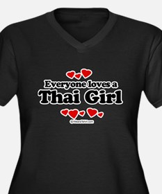 Everyone loves a Thai girl Women's Plus Size V-Nec
