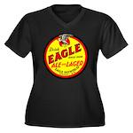 Eagle Ale-1930 Women's Plus Size V-Neck Dark T-Shi