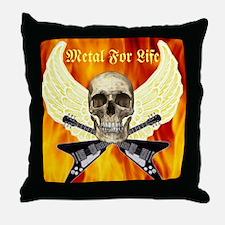 Metal For Life Throw Pillow