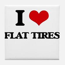 flat tires Tile Coaster