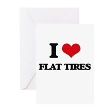 flat tires Greeting Cards