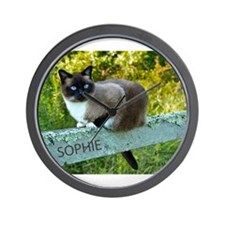 Snowshoe cat Sophie May 2013 Wall Clock