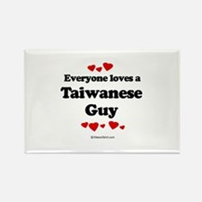 Everyone loves a Taiwanese guy Rectangle Magnet