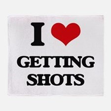 getting shots Throw Blanket