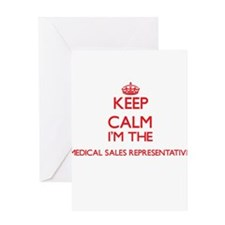 Keep calm I'm the Medical Sales Rep Greeting Cards
