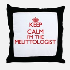 Keep calm I'm the Melittologist Throw Pillow
