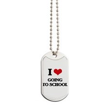 going to school Dog Tags