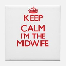 Keep calm I'm the Midwife Tile Coaster