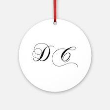 DC-cho black Ornament (Round)
