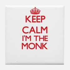 Keep calm I'm the Monk Tile Coaster