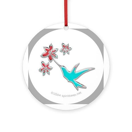 Christmas Hummingbird Ornament (Round)