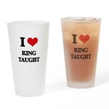 king taught Drinking Glass