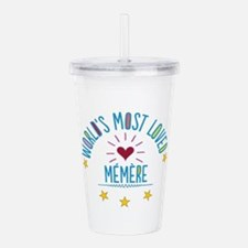 World's Most Loved Mem Acrylic Double-wall Tumbler