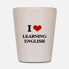 learning english Shot Glass