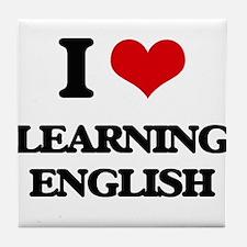 learning english Tile Coaster