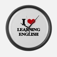 learning english Large Wall Clock