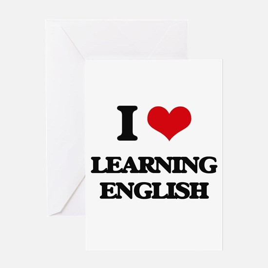 learning english Greeting Cards