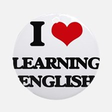 learning english Ornament (Round)