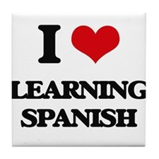 learning spanish Tile Coaster