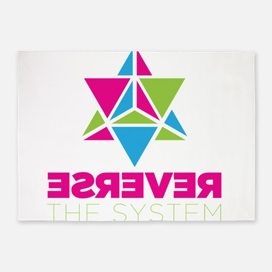 Reverse the System 5'x7'Area Rug