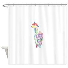 handpainted alpaca Shower Curtain