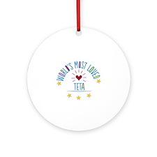 World's Most Loved Teta Ornament (Round)