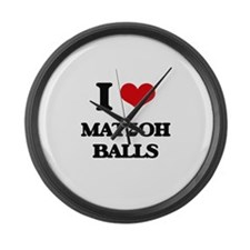 matzoh balls Large Wall Clock
