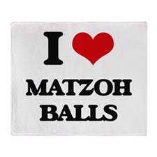 matzoh balls Throw Blanket