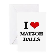 matzoh balls Greeting Cards