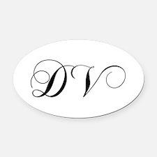 DV-cho black Oval Car Magnet