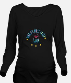 World's Most Loved S Long Sleeve Maternity T-Shirt