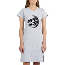 Antique Man in The Moon Face Women's Nightshirt