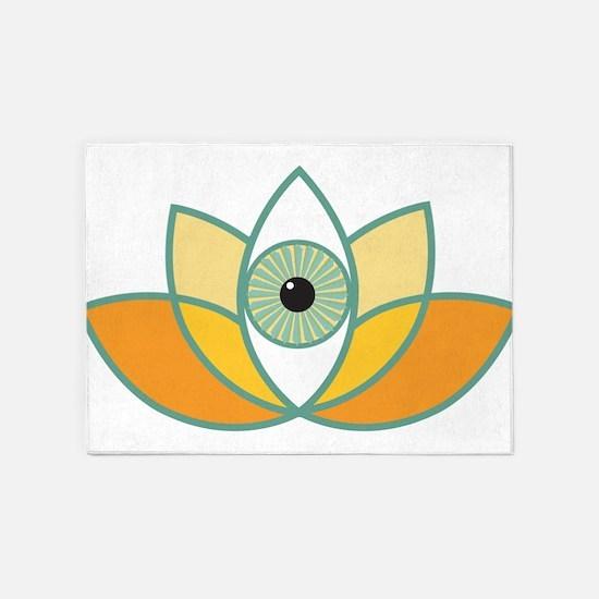 shamanistic 3rd eye lotus 5'x7'Area Rug
